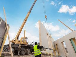 Prefabricated frame-panels for house manufacturing
