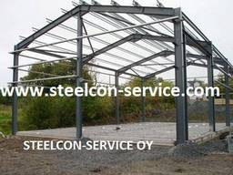 Steel halls, building steel construction